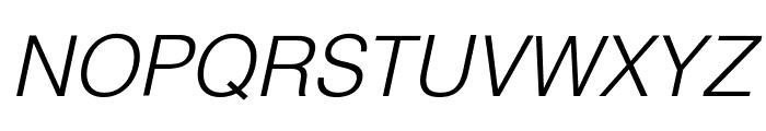 Helvetica Light Oblique Font UPPERCASE