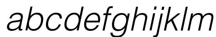 Helvetica Light Oblique Font LOWERCASE