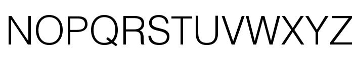Helvetica Light Font UPPERCASE