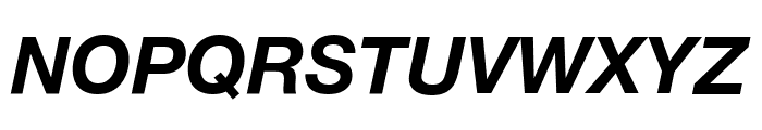 Helvetica Neue Bold Italic Font UPPERCASE