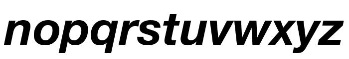 Helvetica Neue Bold Italic Font LOWERCASE