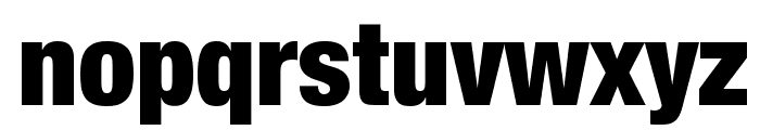 Helvetica Neue Condensed Black Font LOWERCASE