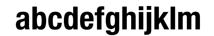 Helvetica Neue Condensed Bold Font LOWERCASE