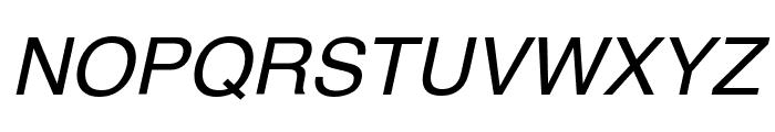 Helvetica Oblique Font UPPERCASE