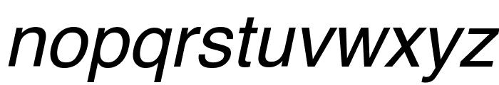 Helvetica Oblique Font LOWERCASE
