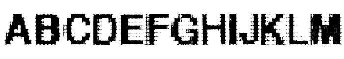 Helvetica-grosse-bit Font UPPERCASE