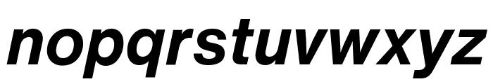 HelveticaNowText-BoldItalic Font LOWERCASE