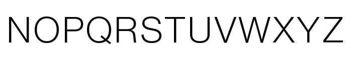 HelveticaNowText-Light Font UPPERCASE