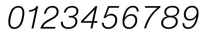 HelveticaNowText-LightItalic Font OTHER CHARS