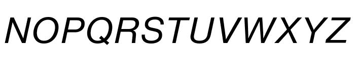 HelveticaNowText-RegIta Font UPPERCASE