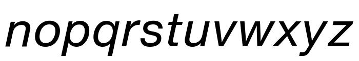 HelveticaNowText-RegIta Font LOWERCASE