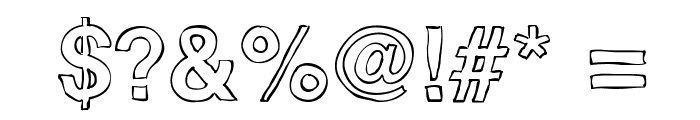 Helvetidoodle Outlines by Ed T Font OTHER CHARS
