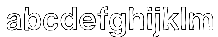 Helvetidoodle Outlines by Ed T Font LOWERCASE