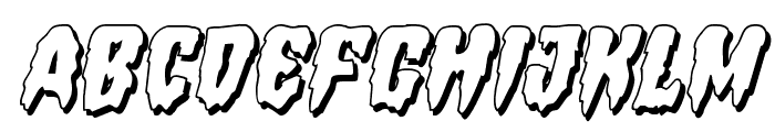 Hemogoblin 3D Italic Font LOWERCASE