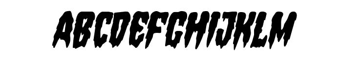 Hemogoblin Condensed Italic Font LOWERCASE