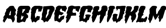 Hemogoblin Expanded Italic Font LOWERCASE