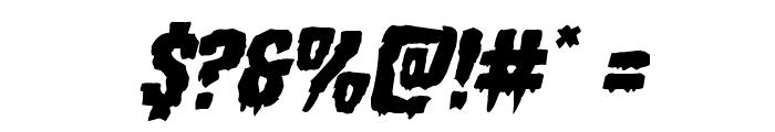 Hemogoblin Mangled Italic Font OTHER CHARS
