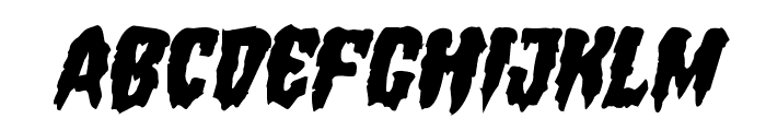 Hemogoblin Mangled Italic Font LOWERCASE