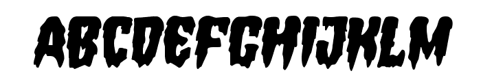 Hemogoblin Semi-Italic Font UPPERCASE