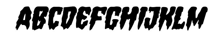 Hemogoblin Staggered Italic Font UPPERCASE