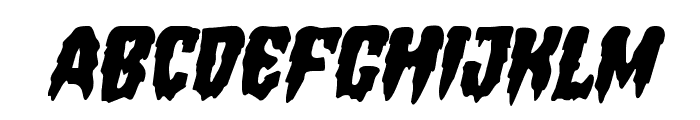 Hemogoblin Staggered Italic Font LOWERCASE