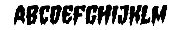 Hemogoblin Staggered Rotalic Font UPPERCASE