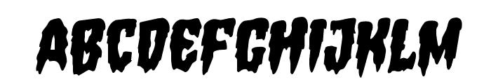 Hemogoblin Staggered Rotalic Font LOWERCASE