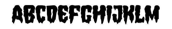 Hemogoblin Staggered Font UPPERCASE