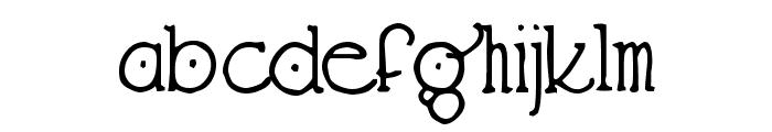 Hendershot Font LOWERCASE