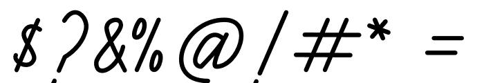 Henshin Script Personal Use Font OTHER CHARS