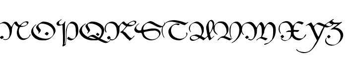 HentimpsCirclet Font UPPERCASE