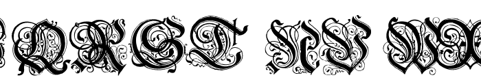 Hentzau_Initials Font UPPERCASE