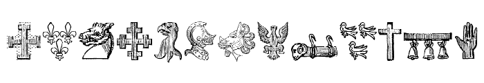 HeraldicDevices Font UPPERCASE