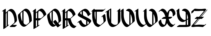 Hergest Font UPPERCASE