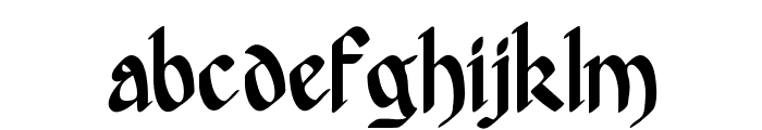 Hergest Font LOWERCASE