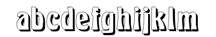 Herkules Shadow Font LOWERCASE