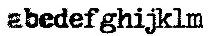 Hermes Rocket Font LOWERCASE