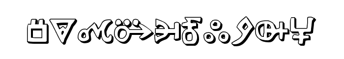 Hermetic Spellbook 3D Font OTHER CHARS