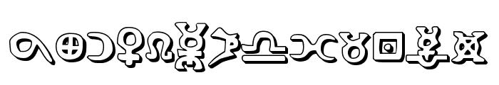 Hermetic Spellbook 3D Font UPPERCASE