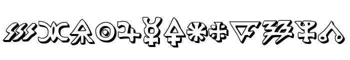 Hermetic Spellbook 3D Font LOWERCASE