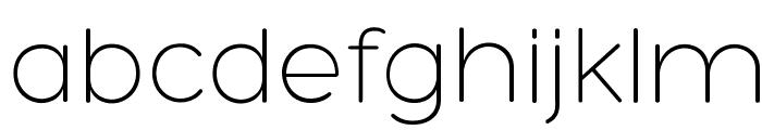 Hero-Light Font LOWERCASE