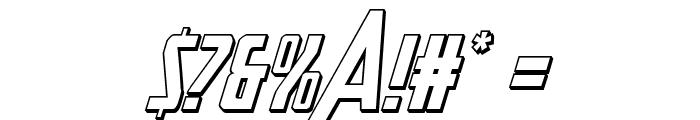 Heroes Assemble 3D Italic Font OTHER CHARS