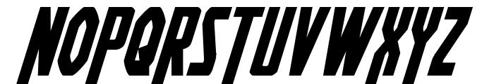Heroes Assemble Bold Italic Font UPPERCASE