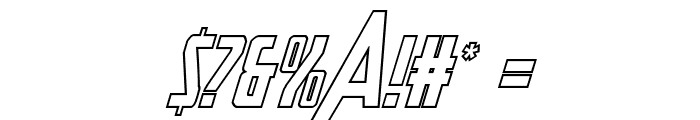 Heroes Assemble Outline Italic Font OTHER CHARS