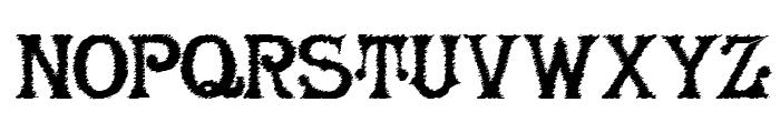 HerrFoch Trash Font UPPERCASE