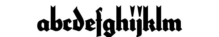 HerzogVonGraf ExtraTall Font LOWERCASE