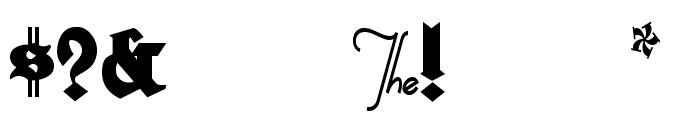 HerzogVonGraf Tall Font OTHER CHARS