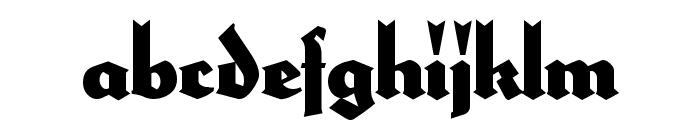 HerzogVonGraf Tall Font LOWERCASE