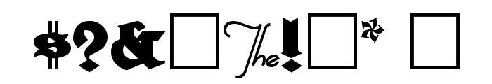 HerzogVonGraf Font OTHER CHARS