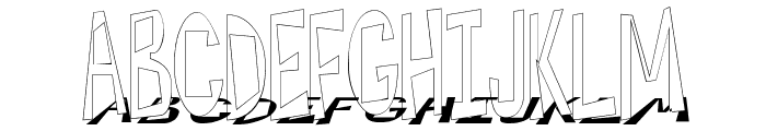 Hesitant Shadow Font UPPERCASE